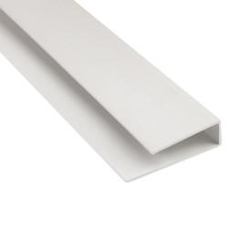 Молдинг окантовочный Белый 2440х3 мм