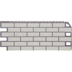 Фасадная панель FineBer Кирпич Мелованный белый 1130х470 мм