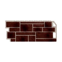 Фасадная панель FineBer Камень Коричневый 1130х470 мм