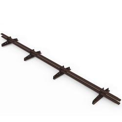 Снегозадержатель трубчатый овальный RAL 8017 Шоколадно-коричневый 3 м