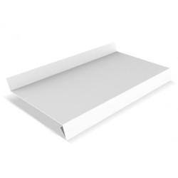 Отлив оконный металлический Белый 3000х70 мм